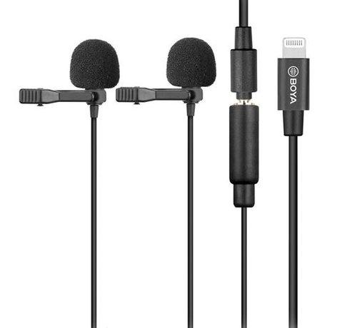 Boya Boya Duo Clip-on Lavalier Microfoon BY-M2D voor iOS