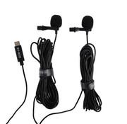 Boya Boya Duo Clip-on Lavalier Microfoon BY-M3D voor USB-C