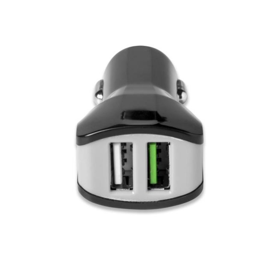 Celly TURBO CAR Charger met 2 USB poorten, output 3.4A zwart