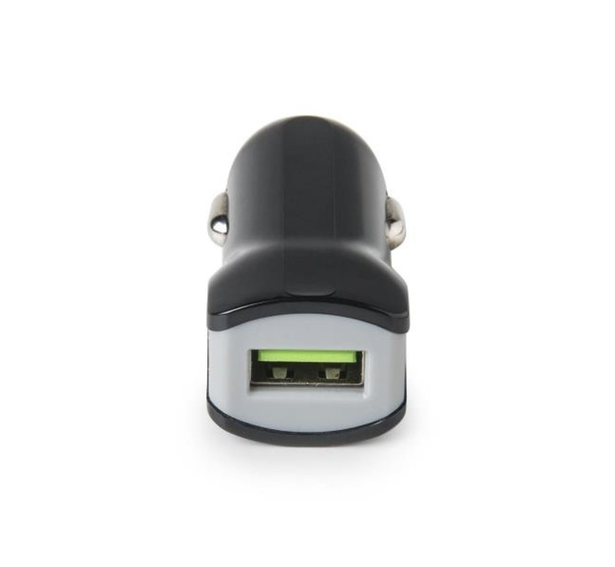 Celly TURBO CAR Charger met 1 USB poort, output 2.4A, zwart