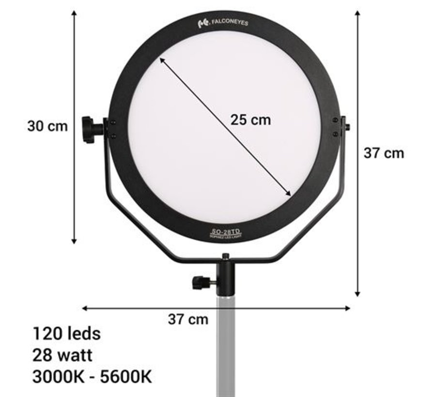 Falcon Eyes Bi-Color LED Lamp Sophiez SO-28TD Set 1