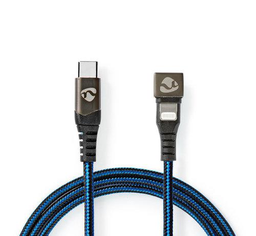 Nedis USB-C Male naar Apple Lightning  - 180°