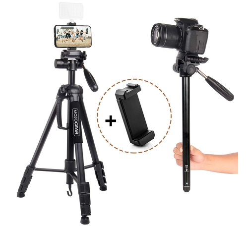 Pixigo Basic Smartphone statief 2-in-1 statief: driepoot & monopod - 177cm