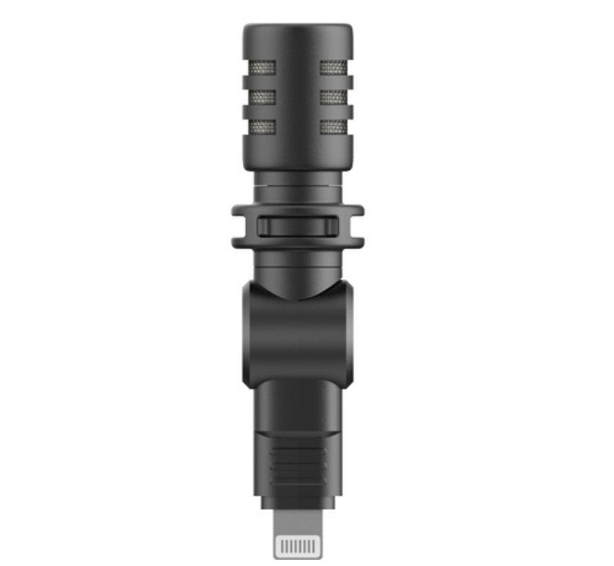 Boya BY-M100D microfoon met Lightning aansluiting