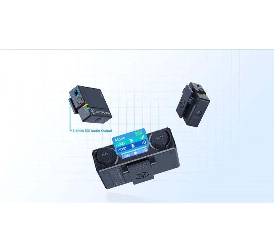 HOLLYLAND Lark 150 Duo draadloze microfoon set voor smartphones