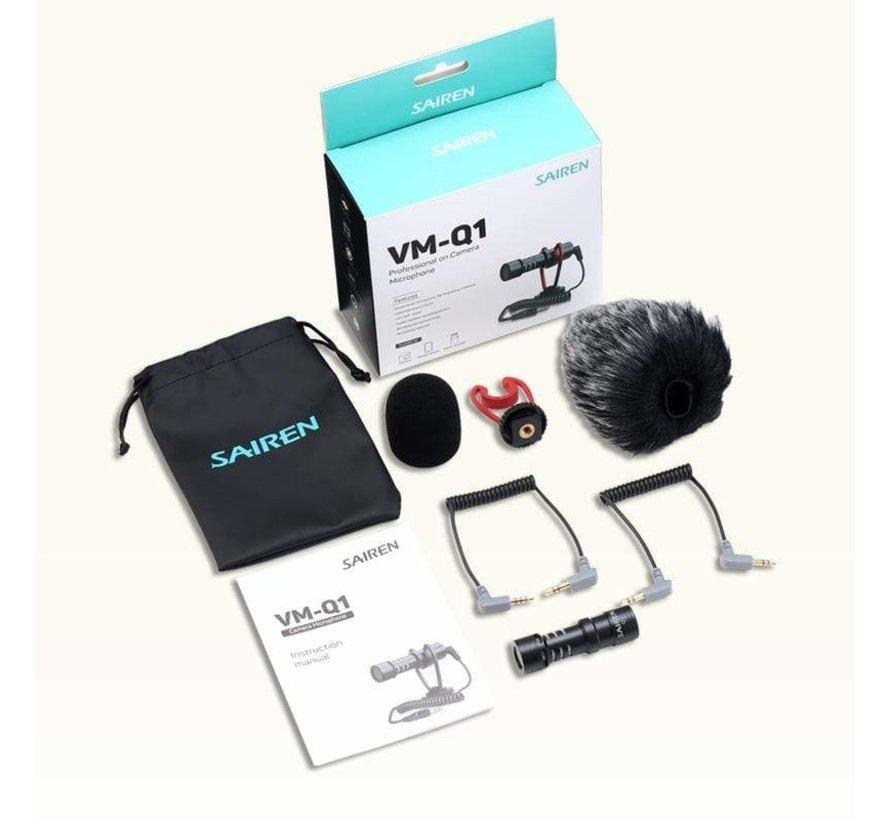 SAIREN VM-Q1 richtmicrofoon voor smartphone en camera