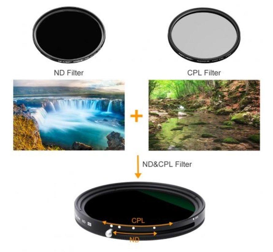 K&F Concept CPL + Variabel ND Filter - Nano X ND2-ND32