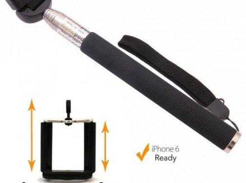 Pixigo Basic Selfie stick met smartphone mount