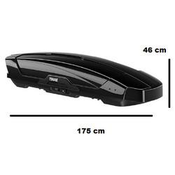 Thule Motion XT M - Dakkoffer - Skikoffer - Black Glossy - 400 L - 5 Jaar garantie
