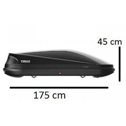 Thule Touring M  - Dakkoffer - 400 Liter -   Black aeroskin