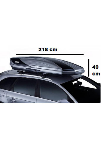Thule Excellence XT 6119T - Titanium Glossy / Zwart Glossy