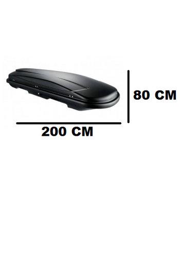 Zomer-/Winterbox Xtreme 450 LiterDubbelzijdig Matzwart 200x80x40cm
