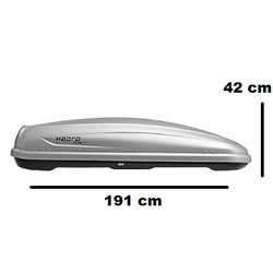 Hapro Traxer 6.6 Silvergrey - 410 Liter - Garantie