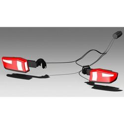 Uebler Achterlichtset compleet incl. lichtarm + scharnier, kabel & stekker