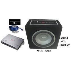 Excalibur X5 pack - 4 Kanaals versterker - Compleet 2400Watt
