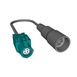 SCANIA Camera Adapter HSD - 4P mini DIN Female 130029