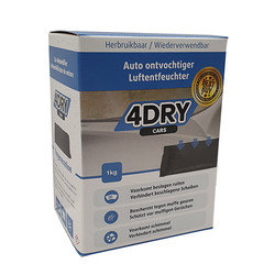 4Dry Cars - Auto ontvochtiger - 1 kg