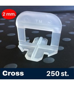 2 mm. Cross Tegel Levelling Clips 250 st.