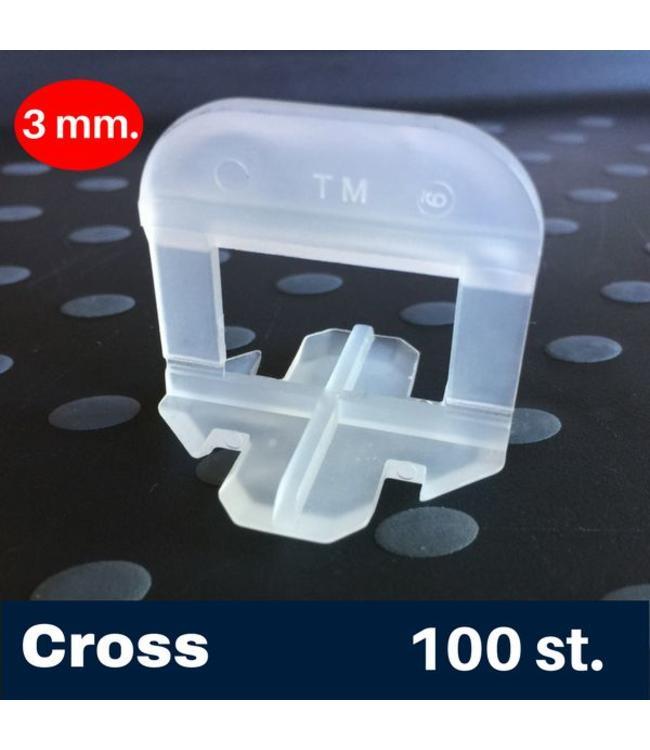 3 mm. Cross Tegel Levelling Clips 100 st.
