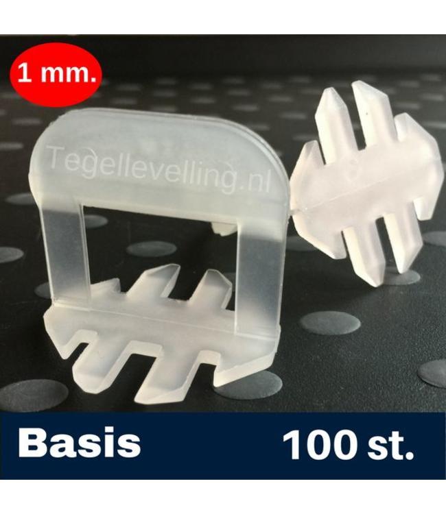 1 mm. Basis. Tegel levelling Clips 100 st.