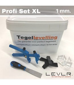 Levelling Starters kit 1 mm. Profi Set XL. Levlr.