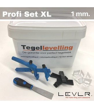 TegelFix Levelling Starters kit 1 mm. Profi Set XL. 500 clips