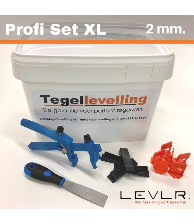TegelFix Levelling Starters kit 2 mm. Profi Set XL. 500 clips
