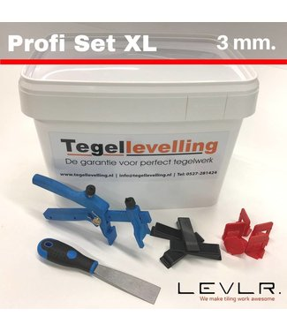 TegelFix Levelling Starters kit 3 mm. Profi Set XL. 500 clips