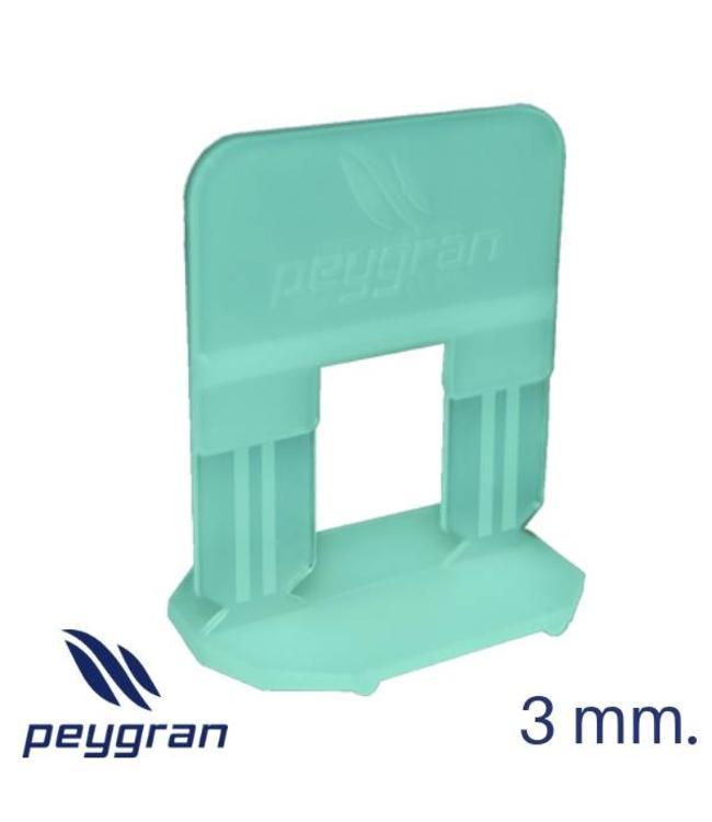 Peygran Tegel Levelling clips 3 mm. 100 stuks Peygran