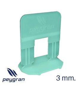 Peygran levelling clips 3 mm. 500 stuks Peygran