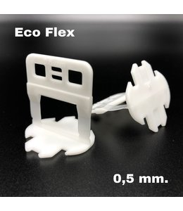 TegelFix Eco Flex Levelling clips 0,5 mm. 1000 st.