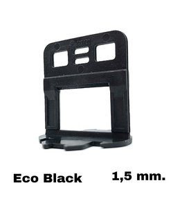 TegelFix Levelling clips Eco Black 1,5 mm. 750 st.