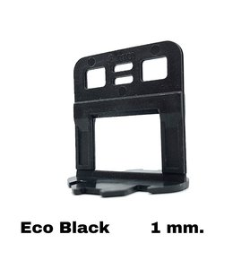 TegelFix Levelling clips 1 mm. Eco Black 1000 st.