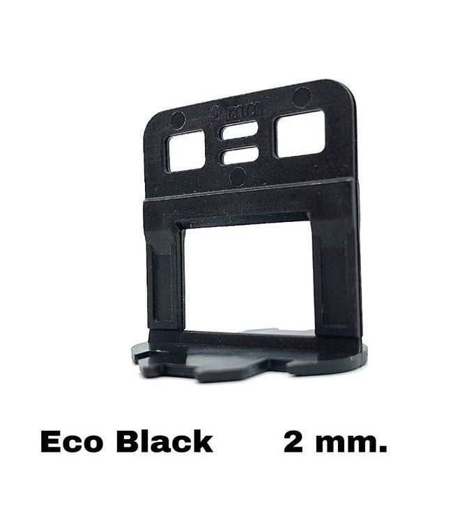 TegelFix Levelling clips Eco Black  2 mm.  250 st.