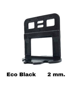 TegelFix Levelling clips  Eco Black 2 mm. 1000 st.