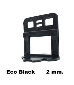 TegelFix Levelling clips  Eco Black 2 mm. 1500 st.