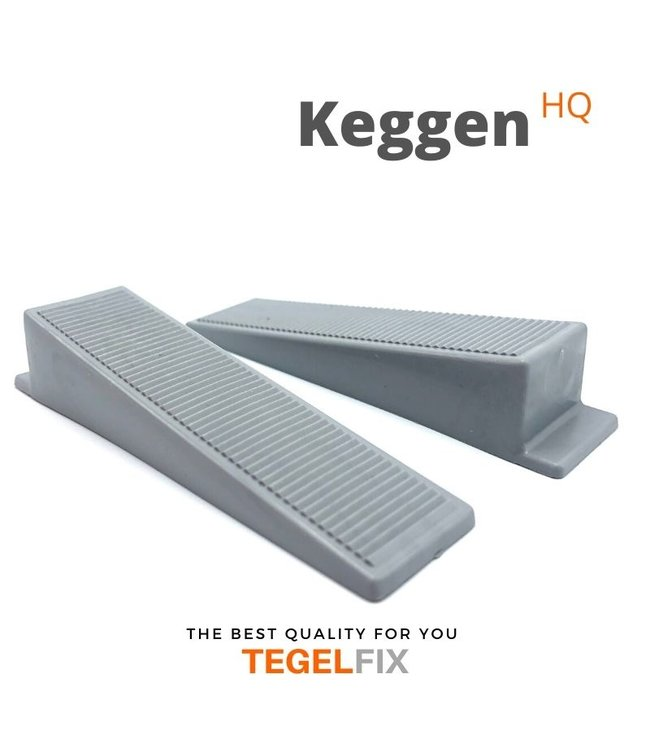 TegelFix Tegel Levelling Keggen.  Zwart 1000 stuks