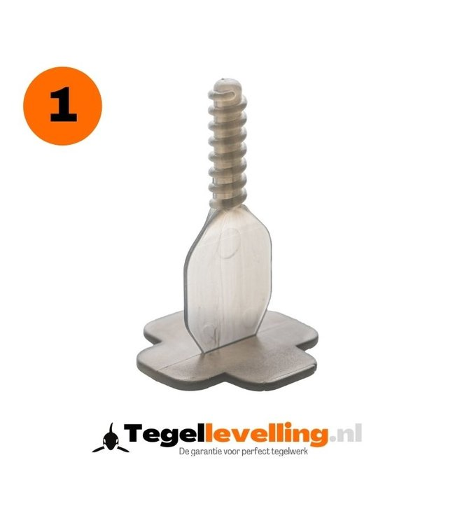 Tiramisu 1 mm. Levelling clips Tiramisu 250 st.