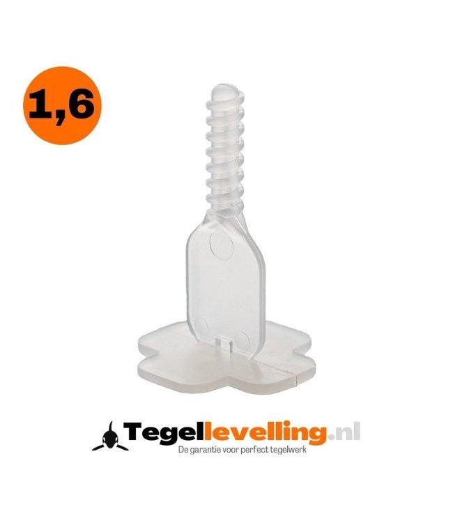 Tiramisu 1,6 mm. Levelling clips Tiramisu 500 st.