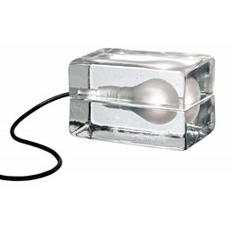 DESIGN HOUSE STOCKHOLM BLOCK LAMP CLEAR MINI LED