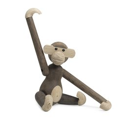 KAY BOJESEN Monkey small aap gerookt eiken