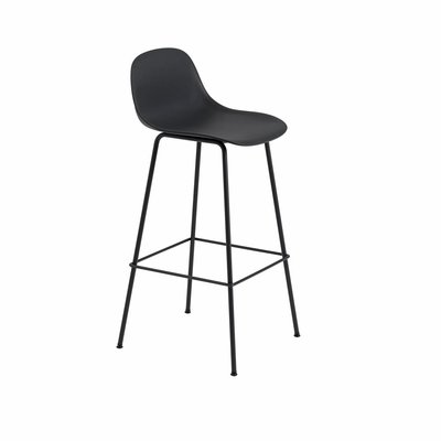 MUUTO FIBER BAR STOOL W.BACKREST/TUBE BASE