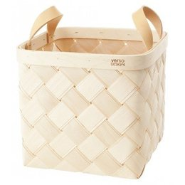 VERSO DESIGN LASTU BIRCH BASKET LEATHER HANDLES