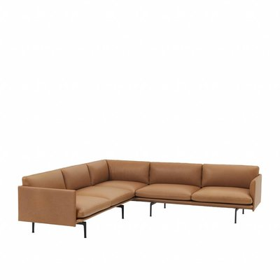MUUTO OUTLINE  SOFA CORNER 255 - BLACK BASE