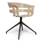 DESIGN HOUSE STOCKHOLM WICK  STOEL OAK SWIVEL BASE GRIJS