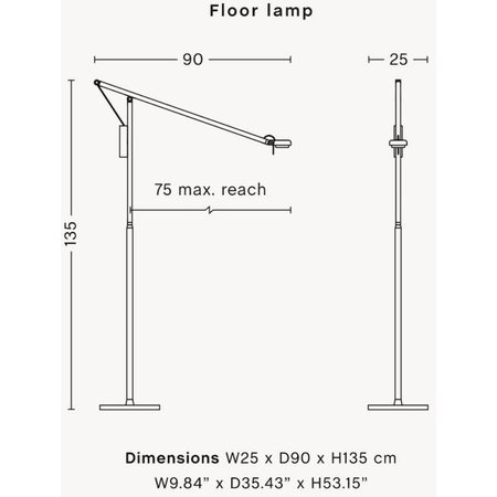 HAY  FIFTY-FIFTY TABLE FLOOR LAMP