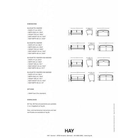 HAY SILHOUETTE SOFA 3 SEATER CODA/100