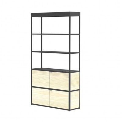 HAY NEW ORDER CABINET 6 LAYER - 100 CHARCOAL