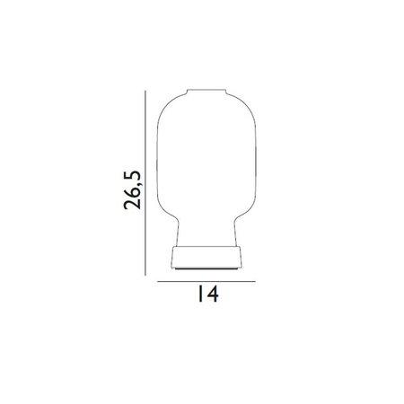 NORMANN COPENHAGEN AMP TABLE LAMP SMOKE/BRASS