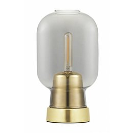 NORMANN COPENHAGEN AMP TABLE LAMP SMOKE/BRASS